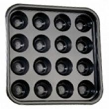 "16 BALL POOL OR BILLIARD 2"" or 2 1/4"" BALL TRAY. GOOD QUALITY STRONG BLACK TRAY"